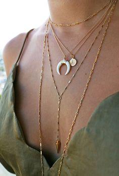 choker necklace - gold