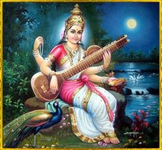Some Thoughts on Commonweal and Education : (Spoken in 1982 to an educationist) There is an impasse in which humanity seems t. Jai Maa Saraswati, Saraswati Photo, Saraswati Goddess, Indian Goddess, Goddess Art, Goddess Lakshmi, Durga, Hanuman Ji Wallpapers, Ganesha Pictures