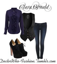 Clara Oswald by doctor-who-fashion featuring high heel boots