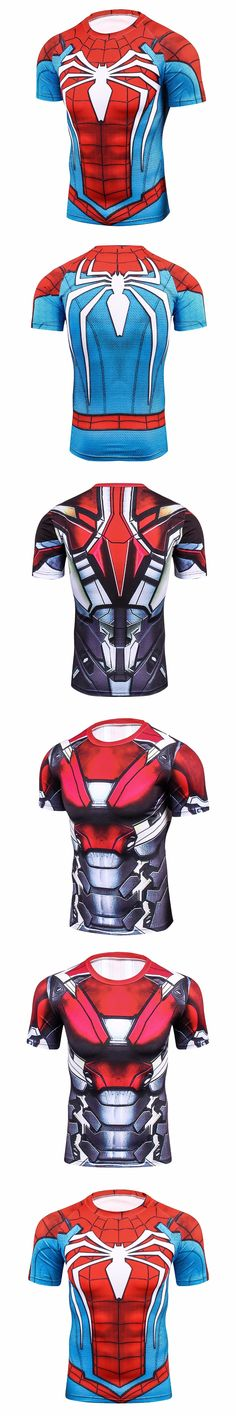 Raglan Sleeve Compression Shirts Spiderman 3D Printed T shirts Men 2017 NEW Crossfit Tops For Male Fitness BodyBuilding Clothing