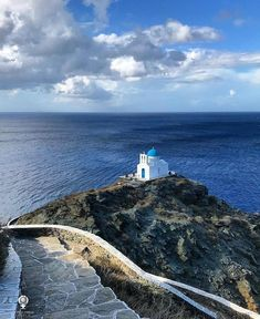 [ Small church in Sifnos island, Cyclades] —————————————————[La - Food: Veggie tables Greece Islands, Vegetable Drinks, Beautiful Places, Around The Worlds, Water, Travel, Outdoor, Instagram, Temples