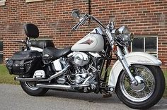 Harley-Davidson : Softail 2000 WHITE HERITAGE MANY EXTRAS EXTREMELY NICE NO RESERVE