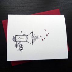 Valentine Card Stun Gun Individual Card by FierceMally on Etsy, $5.00