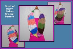 Posh Pooch Designs Dog Clothes: Scarf Of Many Colors - Free Crochet Pattern.