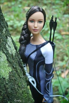 Katniss Everdeen doll, girl on fire. Photo by Gudy