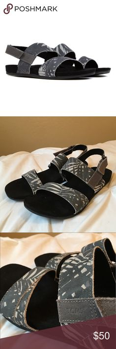 3d255a8d6d5 NEW Toms Suede Printed Palms Tierra Sandals New - never worn! This  slingback sandal features