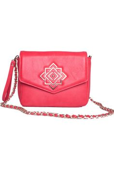 For fierce girls on-the-go, the Red Story leather handcrafted crossbody bag is the perfect urban companion. Shiny and unique designed hardware dresses the exterior, while three inside pockets and great inside space discretely stash wallet, phone, makeup, and other little extras.#busta #bustabags #leatherbag #leather #streetstyle #pink #fuchsia #embroidery #folklore #handmade #crossbody #leathercrossbody