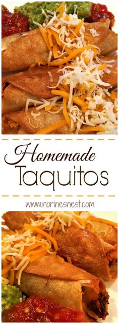 Fresh Homemade Taquitos are so easy to make and one of our favorite Mexican Dishes! They are super easy to make and SUPER YUMMY!!!