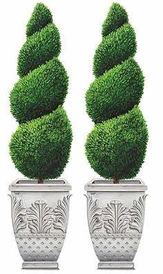 Topiary Plants, Topiary Garden, Boxwood Topiary, Topiary Trees, Lawn And Garden, Garden Pots, Easy Garden, Landscape Design, Garden Design