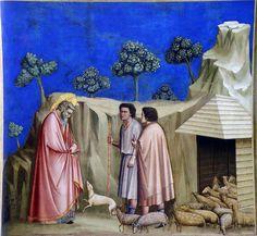 Giotto - Gioacchino fra i pastori. padova, Cappella degli Scrovegni by renzodionigi, via Flickr