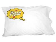 Dreaming of Pizza Yellow Novelty Bedding Pillowcase Pillow Case | eBay