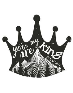 $5.00 Bible Verse Print - You are my king - Psalm 44:4 If God is your King, you're breathing his air, wearing his clothes, walking on his planet. He's your King on Monday, not just Sunday. He's King of what you keep, not just what you give. Use this bible verse print inspired by Where the Wild Things Are to remind you daily of who is your King. - Different size options available #christiandecor #wherethewildthingsare #kidsdecor #kidswallart #youaremyking #psalm