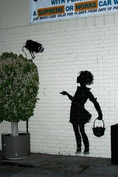 New Banksy Graffiti Art in Los Angeles - Graffiti Letters - Alphabet - a graffiti - 3D Graffiti