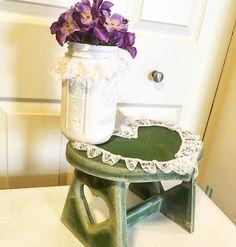 Painted Mason Jar_Mason Jar Decor_Mason Jar Centerpiece_Glass