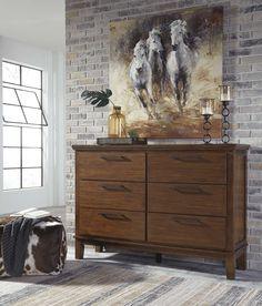 503 DOLAR By Ashley Ralene Medium Brown Dresser B594-31. Shop today!