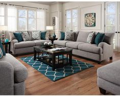 Super cute farmhouse couch and love seat! #ad