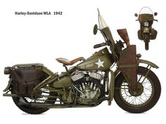 "Harley Davidson supports the U.S. and Allied Troops WW2 and the U.S. Army provides Harley Davidson 2 times its Service Star! The HD WLA motorcycle was recognized as a sturdy and reliable vehicle and for their Excellence in Production, the Harley-Davidson Motorcycle Company received the Army-Navy ""E"" Award on May 12th, 1943.  - In my garage ;-)"