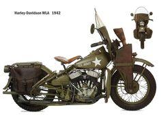 Harley Davidson WLA 1942: la motocicleta del Capitán América