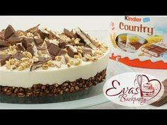 Kinder-Country-Torte / no bake / Schokoladen-Knusper-Boden / Backen evasbackparty - YouTube