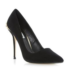 DUNE LADIES BELLA - Jewelled Back Pointed Court Shoe - black | Dune Shoes Online