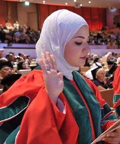 Eqbal Asa'd: a Palestinian Muslim woman that started med school when she was just 14 years old. She got her Bachelor degree in Medicine with Honors and was set by the Guinness World Records as the youngest doctor in the World. She has been signed to go to Ohio to continue her education even further and become a Pediatrician.