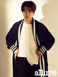 Jung Kyung Ho in Allure Korea January 2019 Korean Men, Korean Actors, Ikon Junhoe, W Korea, Pink Suit, Cha Eun Woo, Pretty Men, Bomber Jacket, Husband