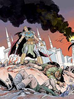 King Kull by Joe Kubert | Cover to KULL #1 from Dark Horse Comics