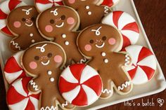 Cute Christmas cookies by Life's a Batch
