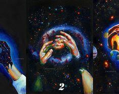 Acrylic paintings, oil paintings, surreal art by umantsiva Unique Paintings, Original Paintings, Painting Of Girl, Pop Surrealism, Psychedelic Art, Surreal Art, Acrylic Painting Canvas, Portrait, Watercolor Paper