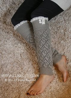 I'm going to buy leg warmers and just add lace... such a great idea!