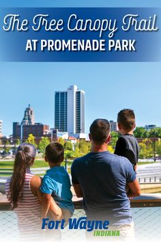 Looking for a beautiful view in the heart of Downtown Fort Wayne? The Tree Canopy Trail at Promenade Park in Fort Wayne, Indiana offers a peaceful walk above the river and an astonishing view of the downtown Skyline. Fort Wayne Indiana, Kayak Rentals, Old Fort, Tree Canopy, Three Rivers, Cultural Experience, Urban Setting, Bike Trails, Outdoor Recreation