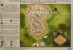Robert Jordan Wheel of Time map - Caemlyn detail