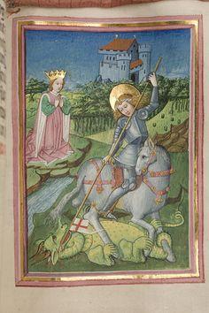 """""""Siebenhirters breviarium"""" är daterat till mitten av 1460-talet. Det är ypperligt utsmyckat av en konstnär som kallas """"Lehrbüchermeister"""", känd från ett flertal verk utförda för den tysk- romerska kejsaren Fredrik III och hans omgivning."""