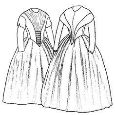Schnittmuster: 1845 Kleid