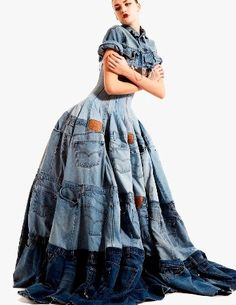 Recycled blue jeans!
