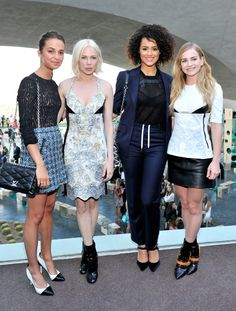 ALICIA VIKANDER, MICHELLE WILLIAMS, NATHALIE EMMANUEL, AND BRITT ROBERTSON  See All the Celebrities at the Louis Vuitton Cruise Show  - ELLE.com
