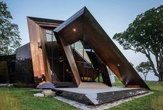 Gorgeous Entrance To The Minimal Futuristic Daniel Libeskind House