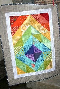 Rainbow Quilt, I like this design...
