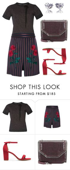 """""""Roses"""" by cherieaustin ❤ liked on Polyvore featuring Adam Selman, Stuart Weitzman and STELLA McCARTNEY"""