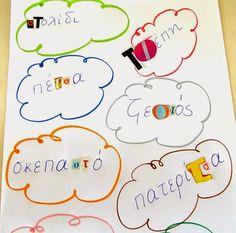 Dyslexia at home: Το κολάζ ως εργαλείο οπτικής διάκρισης και φωνημικής επίγνωσης! Greek Alphabet, Dyslexia, Special Education, Classroom, Teaching, Blog, School, Class Room, Blogging