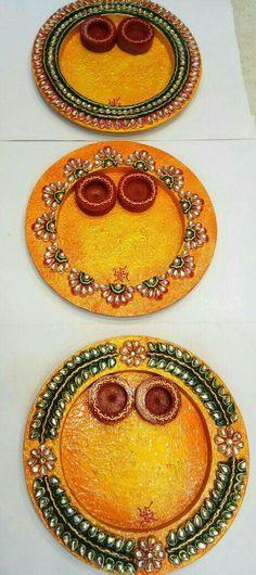 Trendy diy crafts to sell art tutorials ideas Thali Decoration Ideas, Diwali Decorations, Festival Decorations, Diwali Diy, Diwali Craft, Crafts To Make And Sell, Sell Diy, Handmade Rakhi Designs, Indian Crafts