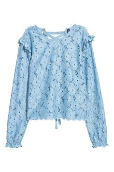 H&M Lace Blouse with Lacing
