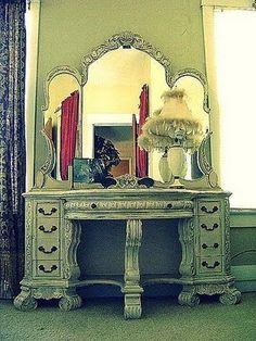 Vintage makeup vanity