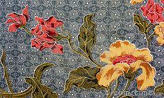 Detailed batik print background, Trengganu, Malaysia