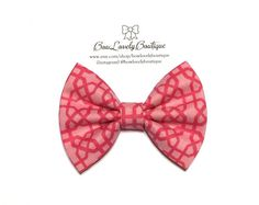 Baby/Girl handmade pink bow headband_Pink by BowLovelyBoutique