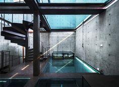 Casa in cemento armato e vetro, il design moderno a Shanghai