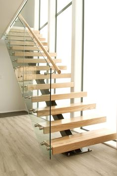 So ours will have a pale timber tread like these ones that Stylecraft have also built. And we'll have the same steel stringer running up the middle, painted in ironsand.