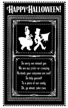 halloween door signs