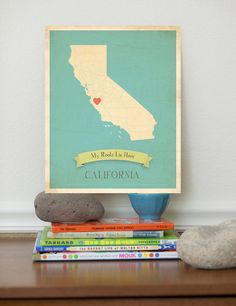 California My Roots Lie Here Map 11x14 by ChildrenInspire . Love this! The heart just needs to be a few more inches north. ;)