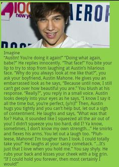 Austin Mahone imagines... best imagine evr! And I seriously love it when he does that look B-)